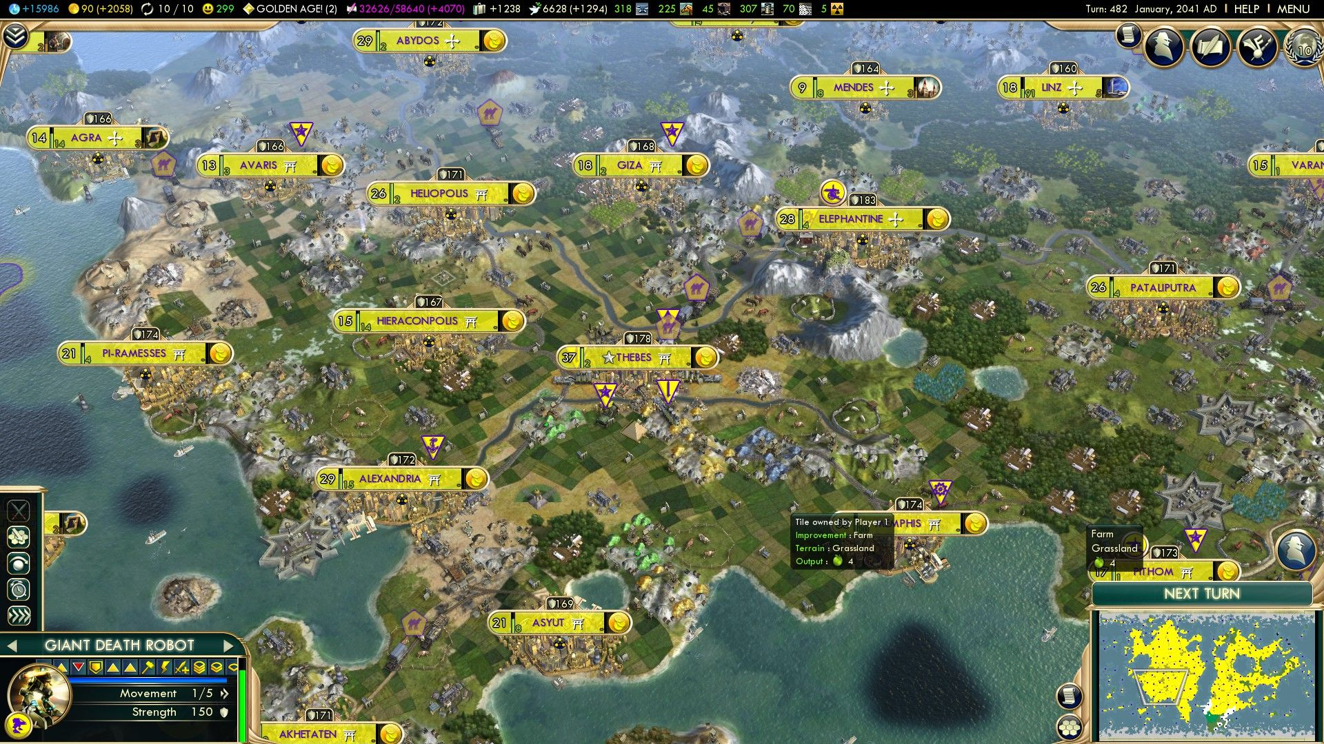 Civilization V Egipat screenshot