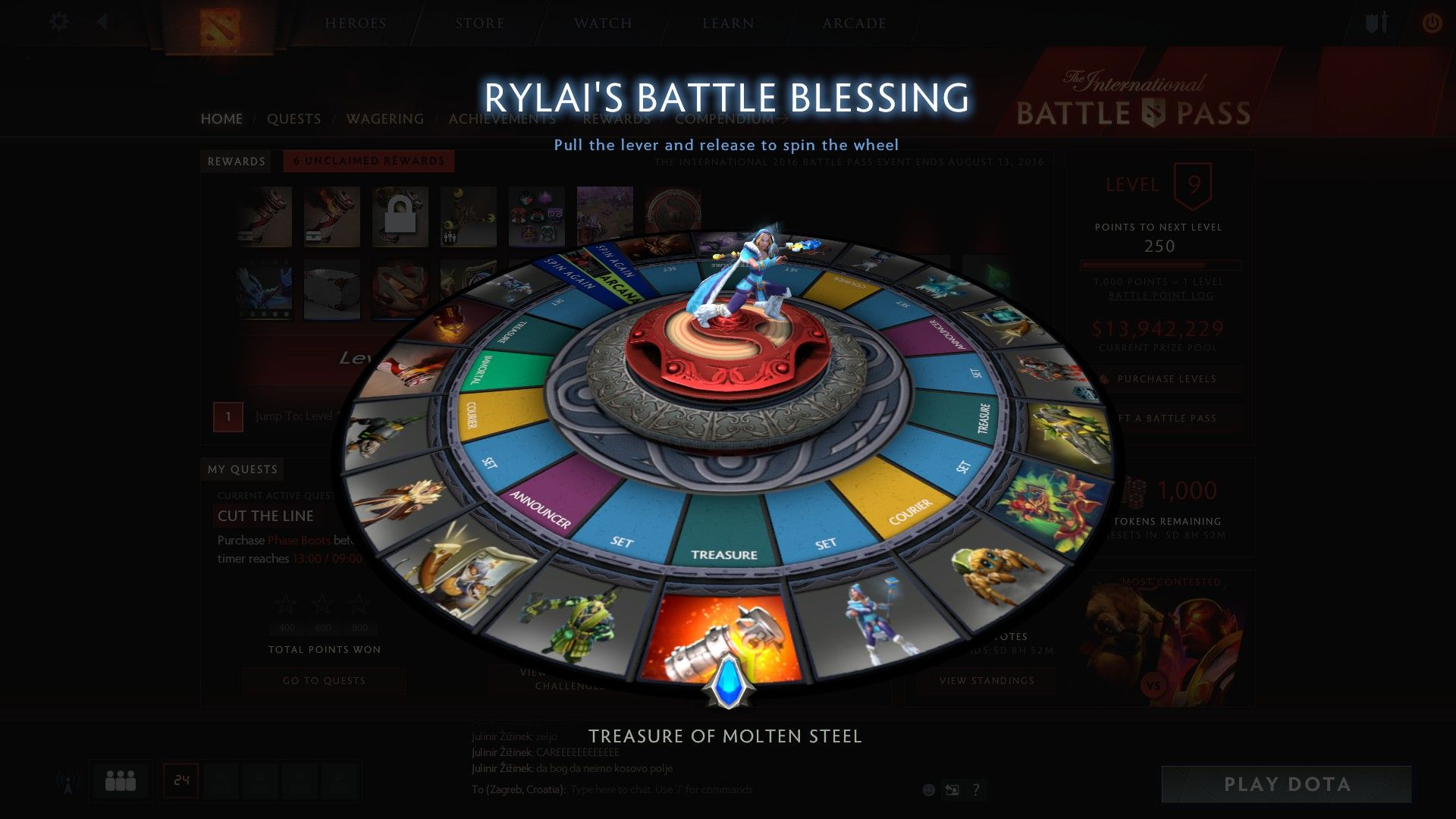 Dota 2 Battle Pass nagrada