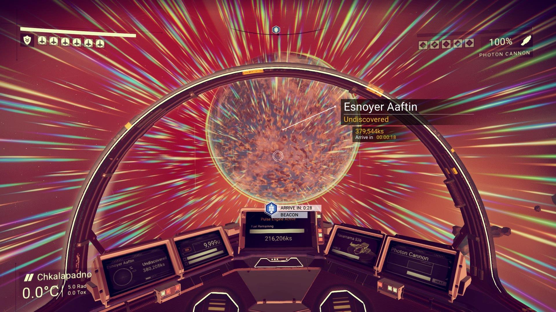 Let kroz svemir izgleda sjajno.