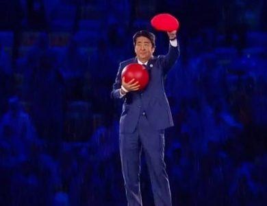 Shinzo Abe Super Mario